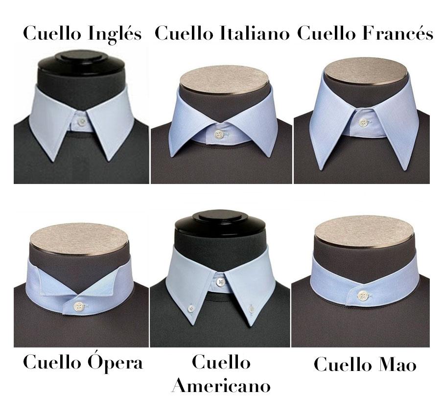 Tipos de cuellos camisa